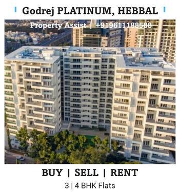Godrej PLATINUM Semi Furnished 3 BHK Flat for RENT