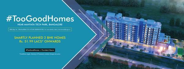 #TooGoodHomes | 2 BHK Apartment in Thanisandra | Flats near
