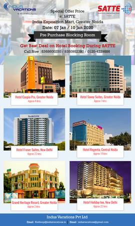 Get Best Deals on Hotel rate During SATTE – , India