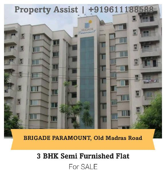 Brigade PARAMOUNT 3 BHK Semi Furnished Flat for SALE
