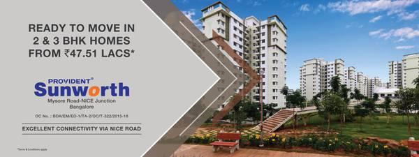 Provident Sunworth | Flats for Sale on Mysore Road-Nice