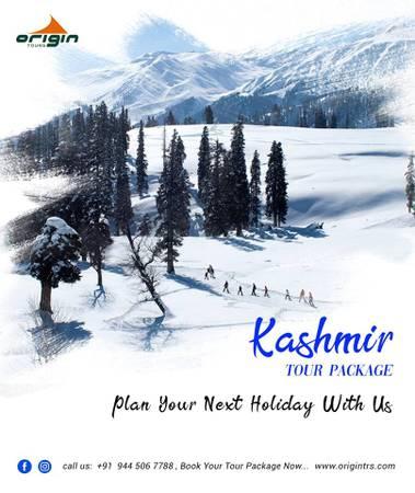 Kashmir tour packages with Origin tours.