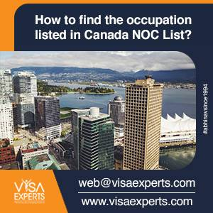 How to find the occupation listed in Canada NOC List?