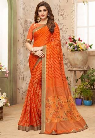 Fashionable Indian designer saree