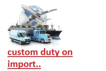 Access the custom duty on import online