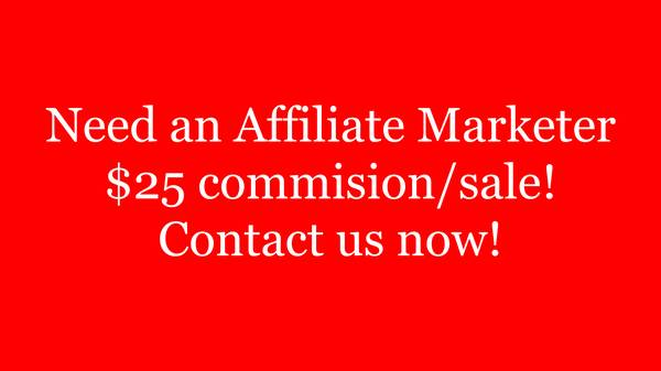 Need an Affiliate Marketer