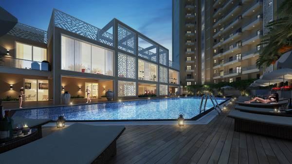 Omega Windsor Greens: 2BHK flats in Main Faizabad Road