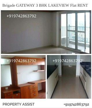Brigade GATEWAY Semi Furnished LAKEVIEW Flat for RENT