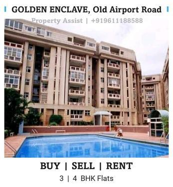 Golden ENCLAVE 3 BHK Semi Furnished Flat for RENT