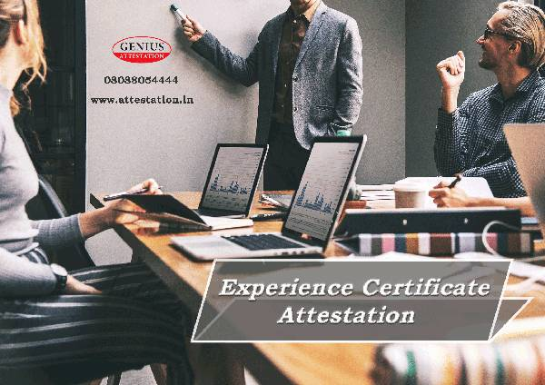 Experience certificate attestation