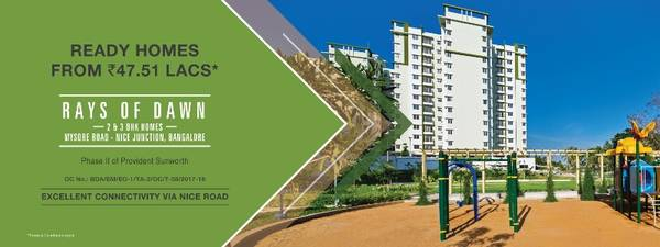Provident Rays of Dawn | 2 & 3 BHK Flats in Mysore Road,