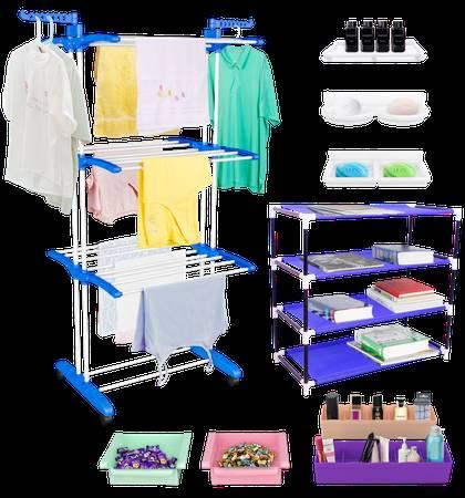TRENDY Jumbo Cloth Drying Stand Combo