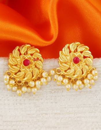 Check out the latest earring designs at Anuradha Art