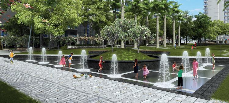 DLF Ultima Lush open Landscaping Water features