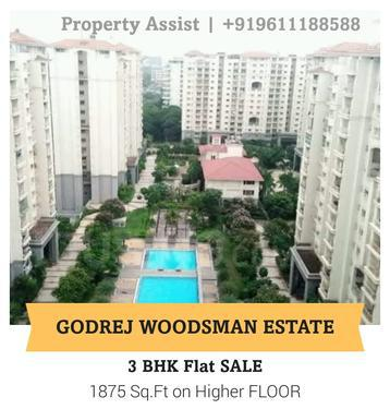 Godrej WOODSMAN Estate 3 BHK East Facing Flat for SALE