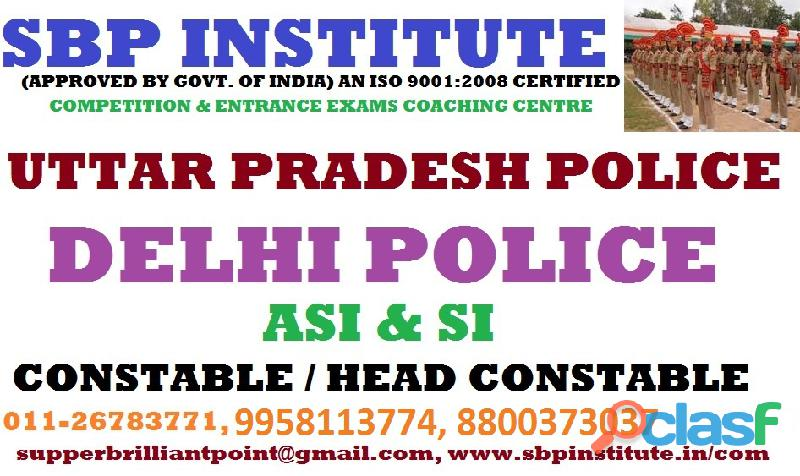 Delhi Police coaching in Delhi, best coaching for sub
