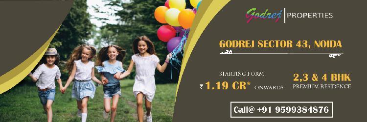 Get 2 BHK in Godrej Noida Sector43 by Godrej Properties Nest