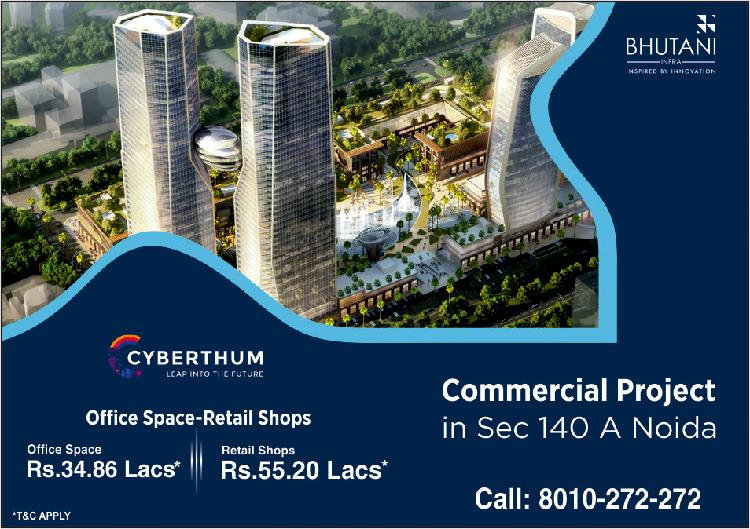 Commercial Projects in Noida Bhutani Cyberthum