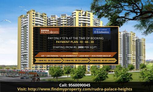 1 2 BHK Flats in Rudra palace heights at best price