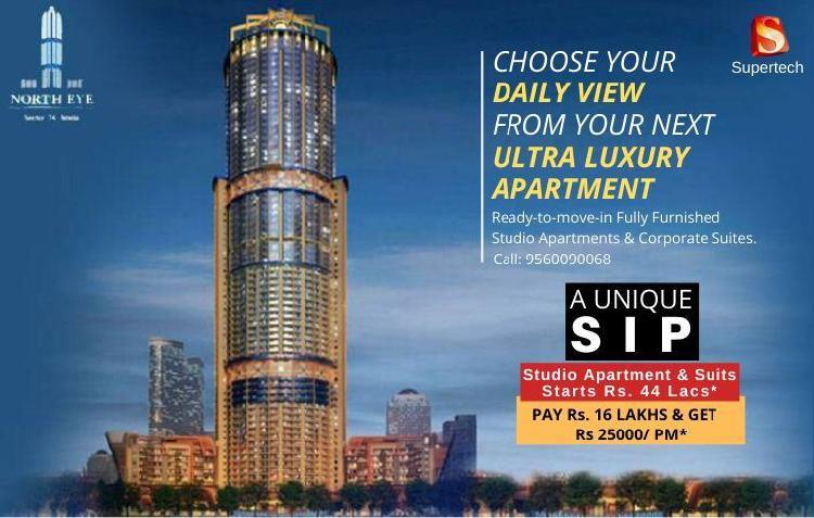 Studio apartments Corporate suits Supertech North Eye
