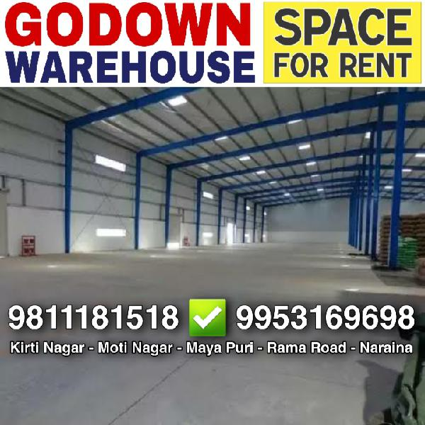 Warehouse Godown for Rent Available in Moti Nagar New Delhi