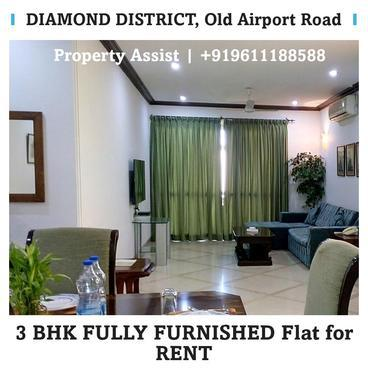 DIAMOND District 3 BHK FULLY FURNISHED Flat for RENT