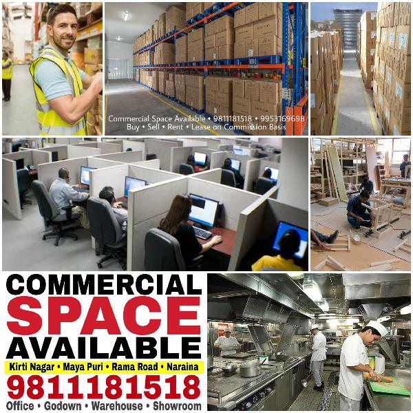 Commercial Office Space Godown on Rent Ramesh Nagar