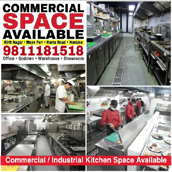 Commercial Industrial Kitchen Space on Rent Cloud Kitchen