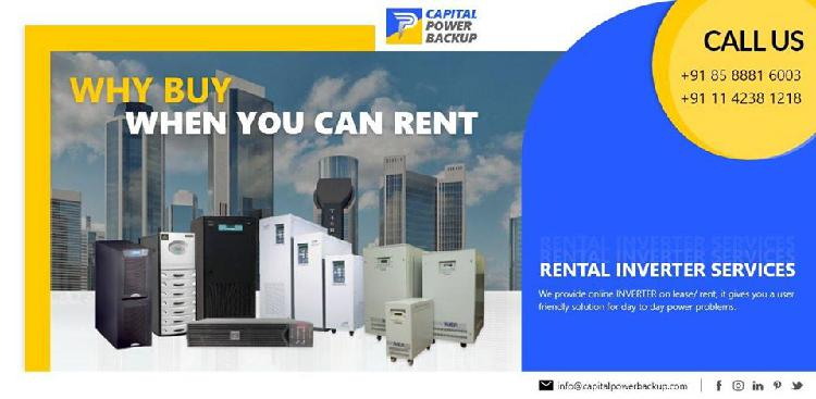 Inverter Rental Services Inverter on Rent in Delhi NCR
