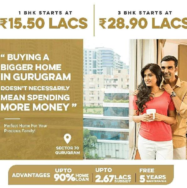1BHK and 3BHK flats available in Gurgaon