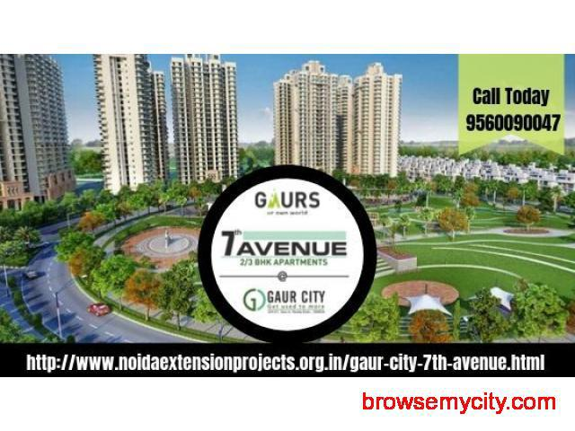 2/3 Bhk apartments in Gaur City 7th Avenue