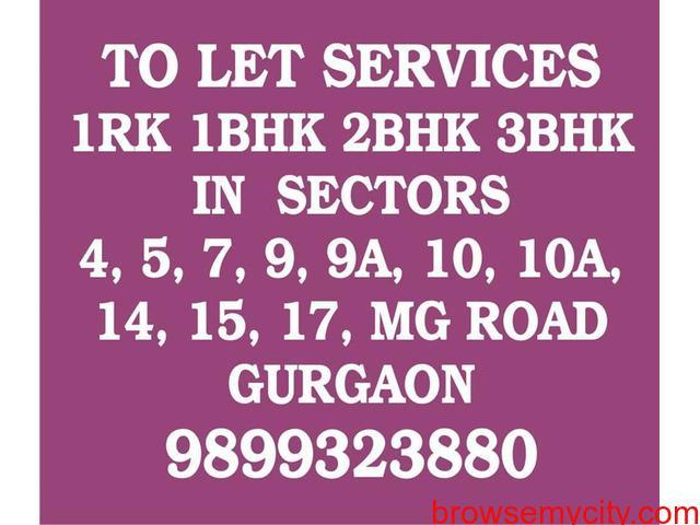 Furnished Rooms near MG Metro stn Gurgaon 9899323880