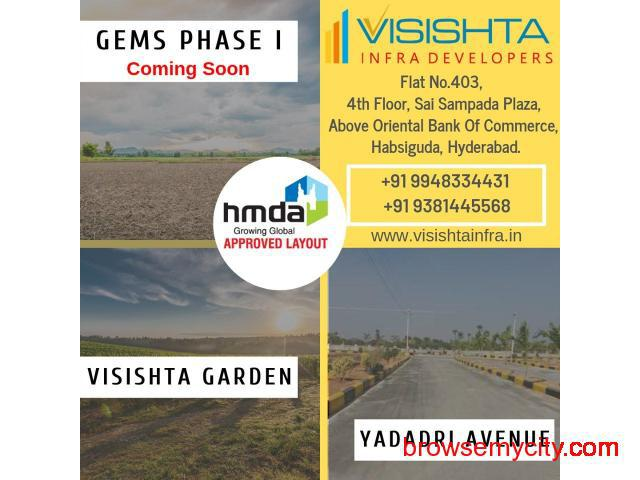 Open plot for sale in Bibinagar|Yadadri|Visishta Infra