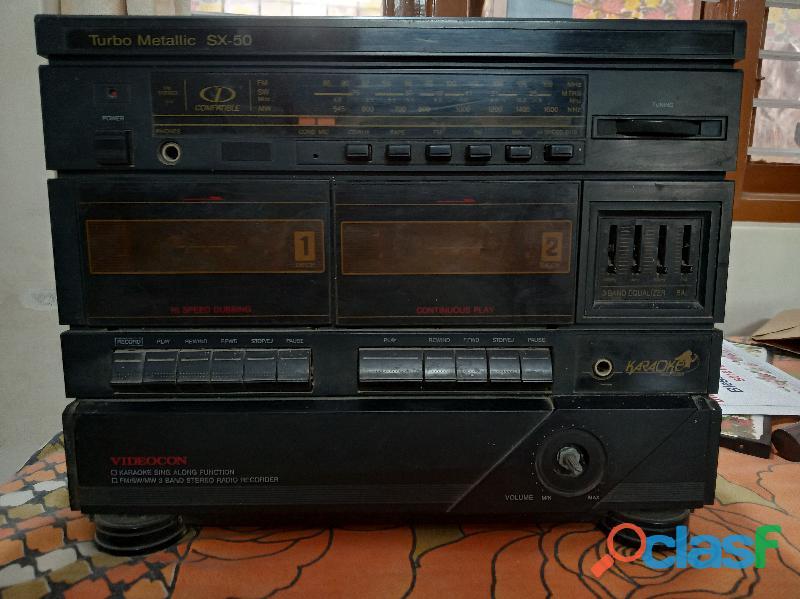 Videocon turbo Metallic SX 50 tape recorder