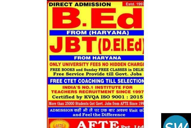 Admission B.ED & JBT & M.ED From Haryana & Gwaliyer
