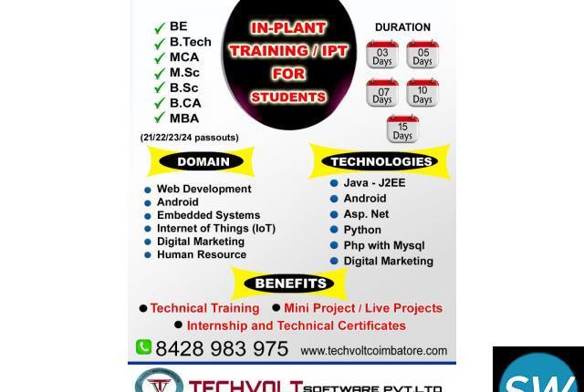 Advanced PHP Internship||Summer Internship | Coimbatore ||