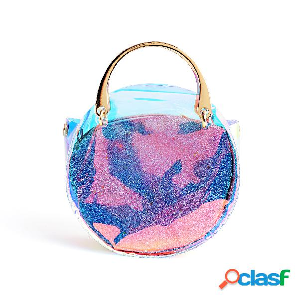 Colorful PVC Transparent Clutch Bags With Small Bags