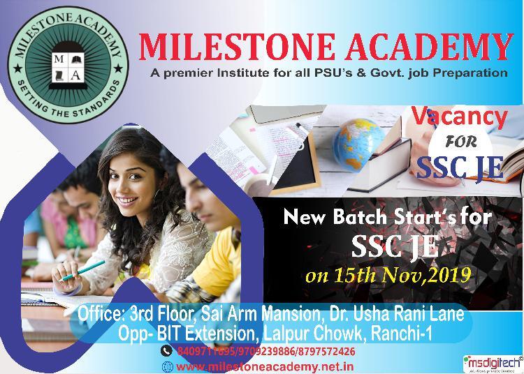 SSC JE exam preparations by Milestone Academy, Ranchi