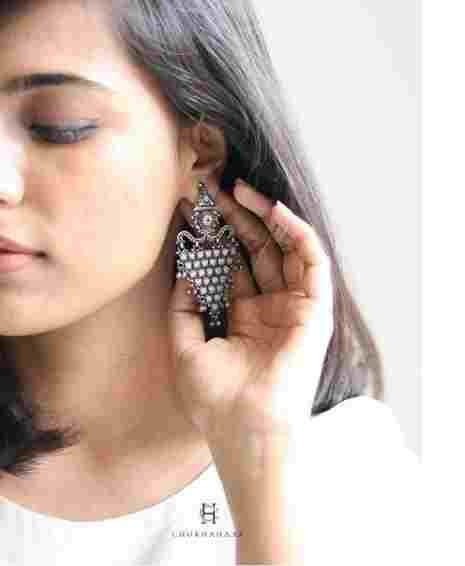 Best Collection of Oxidised Silver Earrings at Chokha Haar