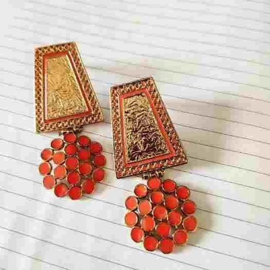 Meena Work Artistry Earring - Buy Best Earrings Online at