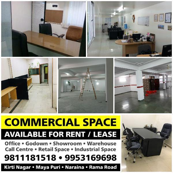 Showroom Retail Space for Rent in Bali Nagar Ramesh nagar