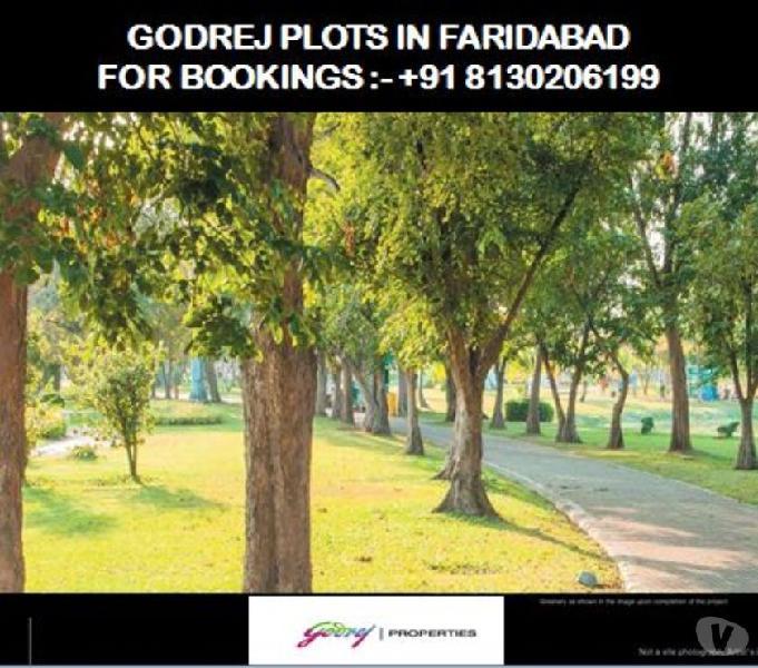 8130206199 - GODREJ RESIDENTIAL PLOTS IN FARIDABAD, GODREJ P
