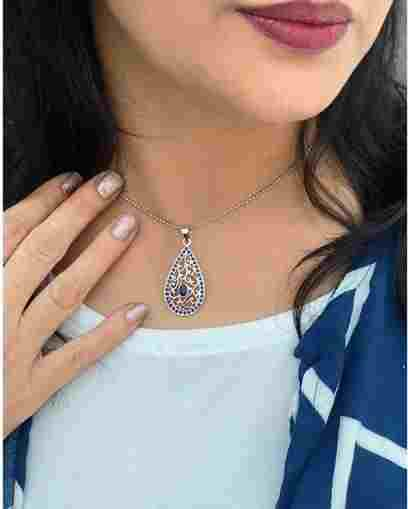 Best Collection of Silver Pendants for Girls at Chokha Haar