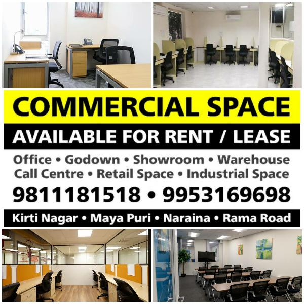 Office Godown Warehouse Call Centre on Rent Lease Delhi