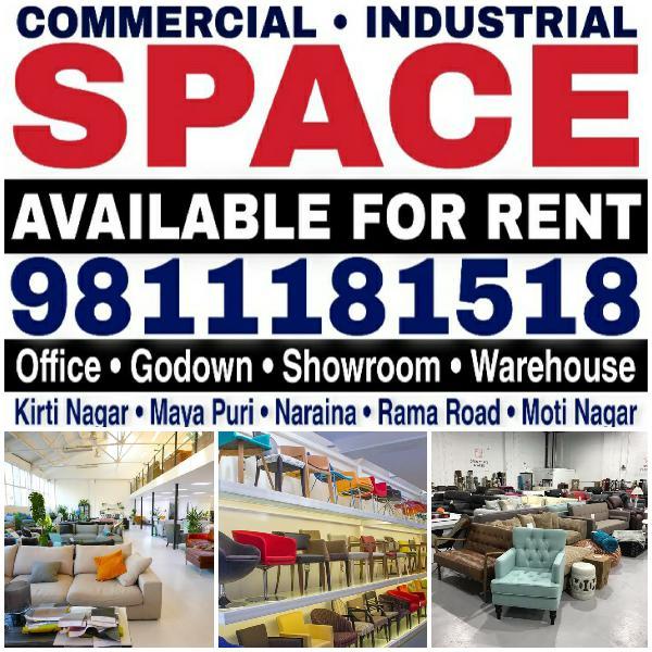 Retail Showroom Furniture Showroom for Rent in Kirti Nagar