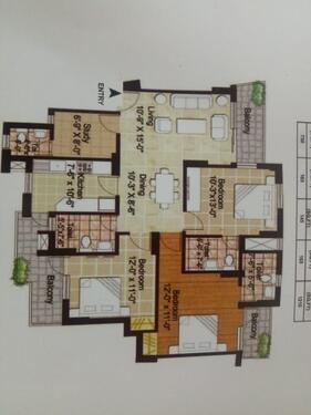 1510 SqFt 3BHK Residential floor Sale In Noida Sector 78