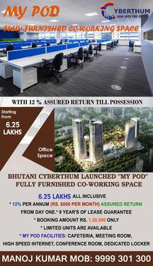 Fully furnished Coworking space for sale in noida expressway