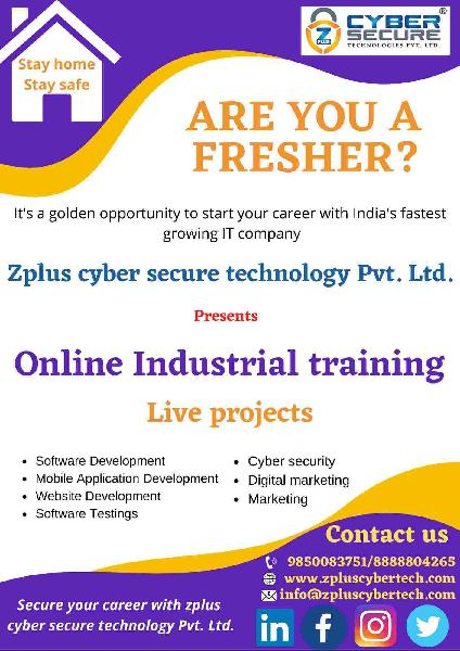 online industrial training on live project