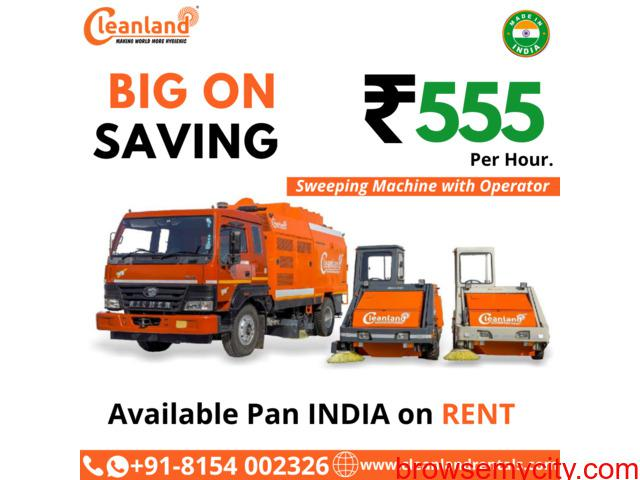 Hire Road Sweeping Machine on Rent with Operator