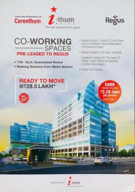 Coworking Commercial Office Space With Rented Property